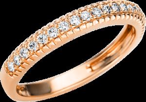 Ring Brogle Selection Casual aus 750 Roségold mit 19 Brillanten (0,22 Karat)