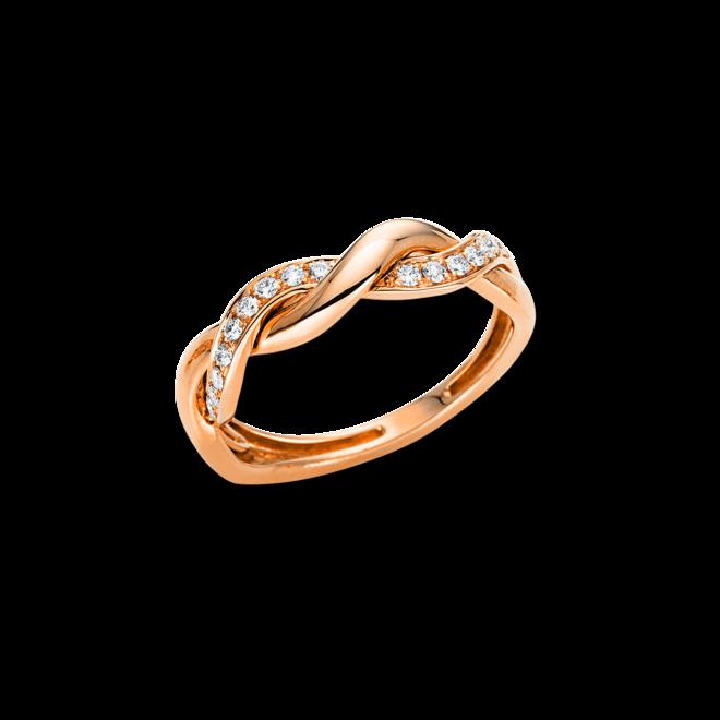 Ring Brogle Selection Casual aus 750 Roségold mit 18 Brillanten (0,18 Karat) bei Brogle