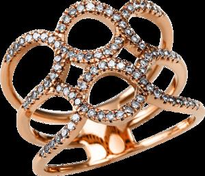Ring Brogle Selection Casual aus 585 Roségold mit 88 Brillanten (0,36 Karat)