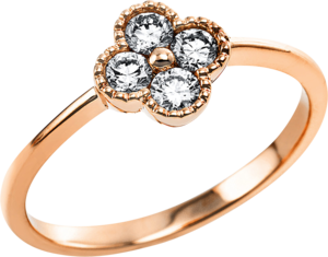 Ring Brogle Selection Casual aus 585 Roségold mit 4 Brillanten (0,33 Karat)