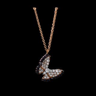 Brogle Selection Halskette mit Anhänger Casual Schmetterling 4E499R8-1