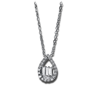 Brogle Selection Halskette mit Anhänger Casual Tropfen 4C891W8-2