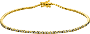 Armband Brogle Selection Eternity aus 750 Gelbgold mit 100 Brillanten (0,94 Karat)