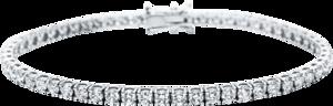 Armband Brogle Selection Eternity aus 750 Weißgold mit 57 Brillanten (5,19 Karat) Größe 18 cm