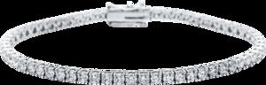 Armband Brogle Selection Eternity aus 750 Weißgold mit 62 Brillanten (4,98 Karat) Größe 18 cm
