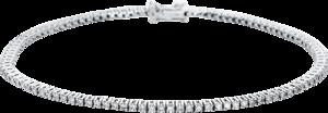 Armband Brogle Selection Eternity aus 750 Weißgold mit 105 Brillanten (1,15 Karat)