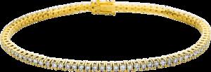 Armband Brogle Selection Eternity aus 750 Gelbgold mit 87 Brillanten (1,72 Karat)