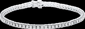 Armband Brogle Selection Eternity aus 750 Weißgold mit 66 Brillanten (2,93 Karat)