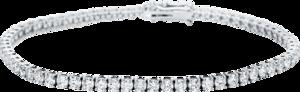 Armband Brogle Selection Eternity aus 585 Weißgold mit 66 Brillanten (4,77 Karat)
