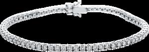 Armband Brogle Selection Eternity aus 750 Weißgold mit 67 Brillanten (3,05 Karat) Größe 19 cm