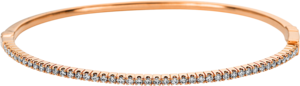 Armreif Brogle Selection Eternity aus 750 Roségold mit 45 Brillanten (0,6 Karat)