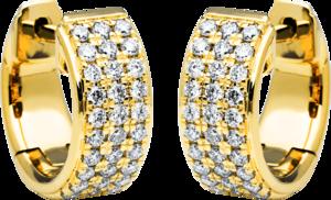 Creole Brogle Selection Eternity aus 750 Gelbgold mit 60 Brillanten (2 x 0,24 Karat)