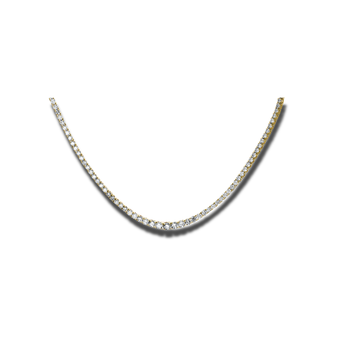 Halskette Brogle Selection Eternity aus 585 Gelbgold mit 202 Brillanten (7,31 Karat) bei Brogle