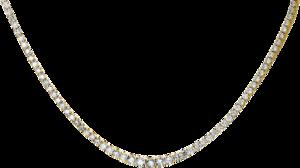 Halskette Brogle Selection Eternity aus 585 Gelbgold mit 202 Brillanten (7,31 Karat)
