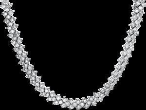 Halskette Brogle Selection Eternity aus 585 Weißgold mit 315 Brillanten (17,77 Karat)