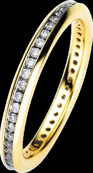Memoirering Brogle Selection Eternity aus 750 Gelbgold mit 46 Brillanten (0,35 Karat) voll ausgefasst