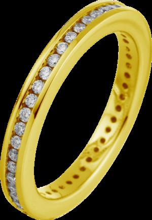Memoirering Brogle Selection Eternity aus 750 Gelbgold mit 43 Brillanten (0,47 Karat) voll ausgefasst