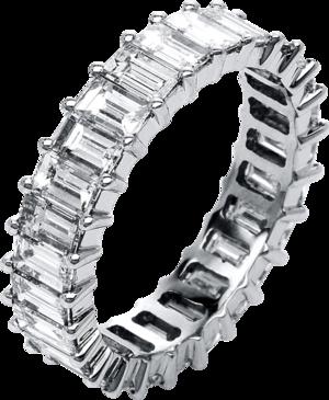 Memoirering Brogle Selection Eternity aus 750 Weißgold mit 25 Diamanten (4,94 Karat) voll ausgefasst