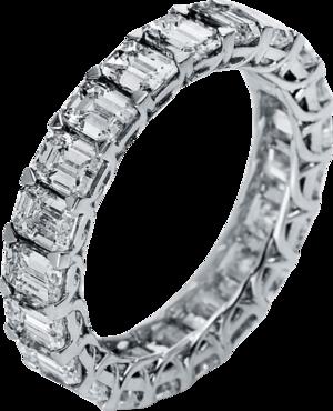 Memoirering Brogle Selection Eternity aus 750 Weißgold mit 21 Diamanten (5,05 Karat) voll ausgefasst