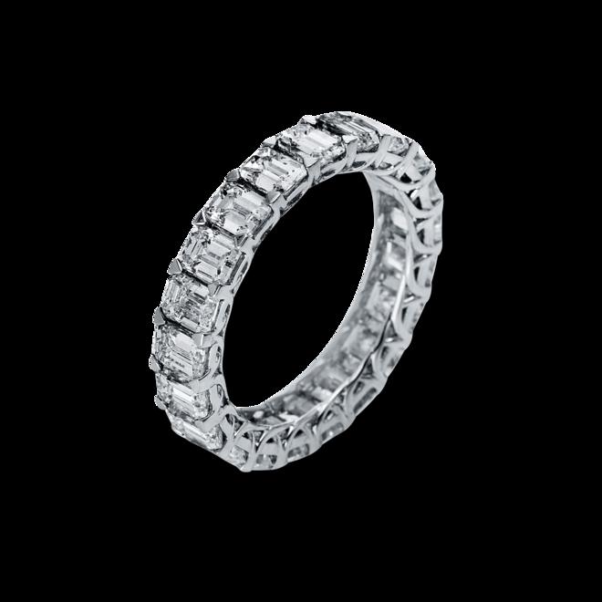 Memoirering Brogle Selection Eternity aus 750 Weißgold mit 21 Diamanten (5,05 Karat) voll ausgefasst bei Brogle