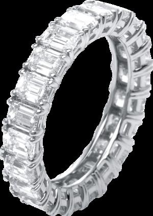 Memoirering Brogle Selection Eternity aus 750 Weißgold mit 22 Diamanten (4,21 Karat) voll ausgefasst