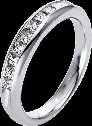 Memoirering Brogle Selection Eternity aus 950 Platin mit 10 Diamanten (0,5 Karat) halb ausgefasst