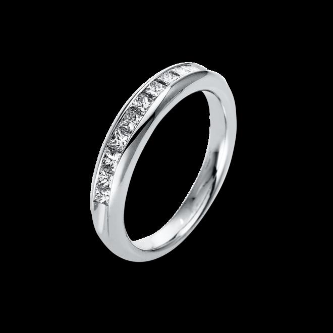 Memoirering Brogle Selection Eternity aus 950 Platin mit 10 Diamanten (0,5 Karat) halb ausgefasst bei Brogle