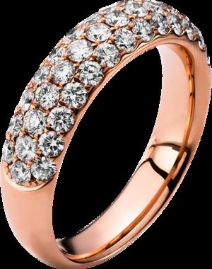 Ring Brogle Selection Eternity aus 750 Roségold mit 40 Brillanten (1,25 Karat)