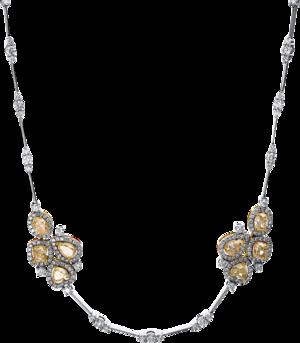 Halskette Brogle Selection Exceptional aus 750 Weißgold und 750 Gelbgold mit 370 Diamanten (9,53 Karat)