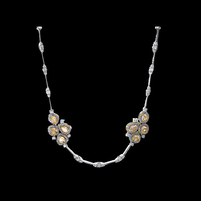 Halskette Brogle Selection Exceptional aus 750 Weißgold und 750 Gelbgold mit 370 Diamanten (9,53 Karat) bei Brogle