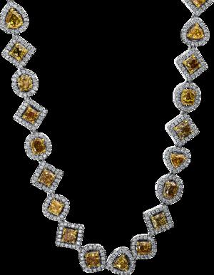 Halskette Brogle Selection Exceptional aus 750 Weißgold und 750 Gelbgold mit 1750 Diamanten (35,56 Karat)