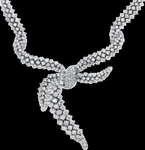 Halskette mit Anhänger Brogle Selection Exceptional aus 750 Weißgold mit 584 Brillanten (21,08 Karat)
