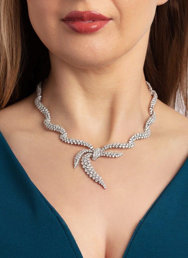 Halskette mit Anhänger Brogle Selection Exceptional aus 750 Weißgold mit 584 Brillanten (21,08 Karat) bei Brogle