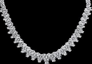 Halskette Brogle Selection Exceptional aus 750 Weißgold mit 224 Diamanten (11,3 Karat)
