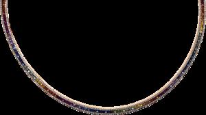 Halskette Brogle Selection Exceptional aus 750 Roségold mit 720 Brillanten (3,36 Karat) und 216 Saphiren