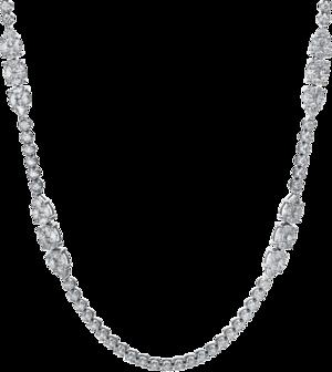 Halskette mit Anhänger Brogle Selection Exceptional aus 750 Weißgold mit 381 Brillanten (16,18 Karat)