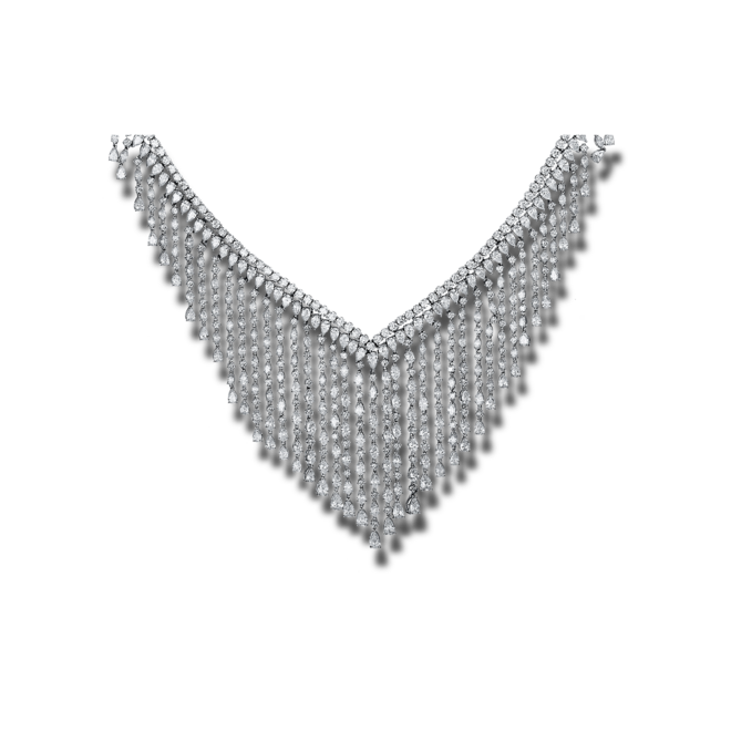 Halskette Brogle Selection Exceptional aus 750 Weißgold mit 555 Brillanten (36,46 Karat) bei Brogle