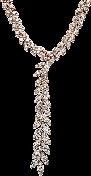 Halskette mit Anhänger Brogle Selection Exceptional aus 750 Roségold mit 723 Brillanten (15,77 Karat)