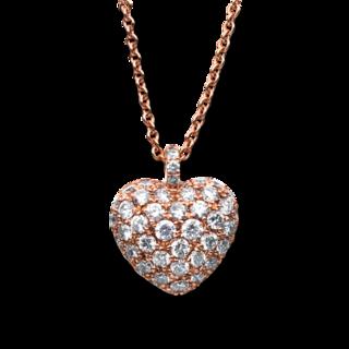 Brogle Selection Halskette mit Anhänger Exceptional Herz 4B998R8-3