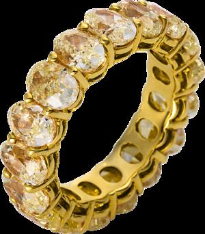 Memoirering Brogle Selection Exceptional aus 750 Gelbgold mit 17 Diamanten (9,04 Karat) voll ausgefasst