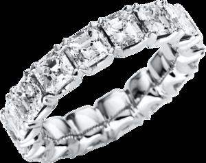 Memoirering Brogle Selection Exceptional aus 750 Weißgold mit 16 Diamanten (5,37 Karat) voll ausgefasst