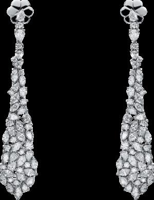 Ohrhänger Brogle Selection Exceptional aus 750 Weißgold mit 102 Brillanten (2 x 4,21 Karat)