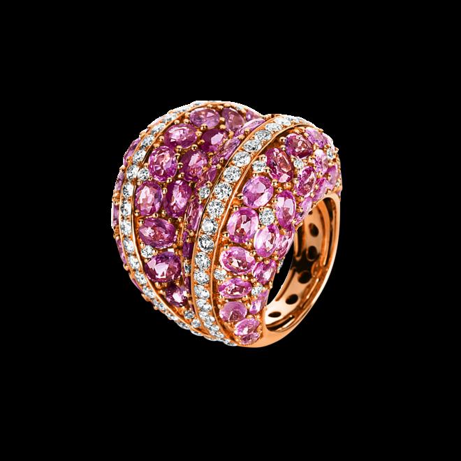 Ring Brogle Selection Exceptional aus 750 Roségold mit 97 Brillanten (2,73 Karat) und 72 Saphiren bei Brogle