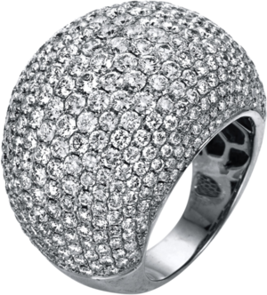 Ring Brogle Selection Exceptional aus 750 Weißgold mit 397 Brillanten (7,03 Karat)