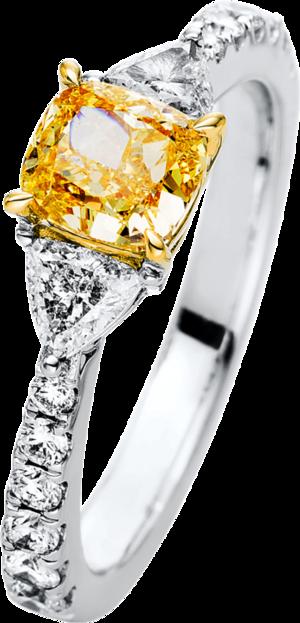 Ring Brogle Selection Exceptional aus 750 Weißgold und 750 Gelbgold mit 15 Brillanten (1,65 Karat)