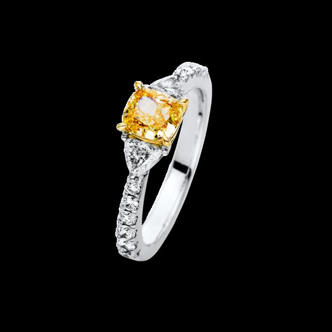 Ring Brogle Selection Exceptional aus 750 Weißgold und 750 Gelbgold mit 15 Brillanten (1,65 Karat) bei Brogle