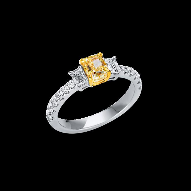 Ring Brogle Selection Exceptional aus 750 Weißgold und 750 Gelbgold mit 14 Brillanten (0,74 Karat) bei Brogle