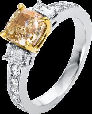 Ring Brogle Selection Exceptional aus 750 Weißgold und 750 Gelbgold mit 13 Diamanten (2,91 Karat)