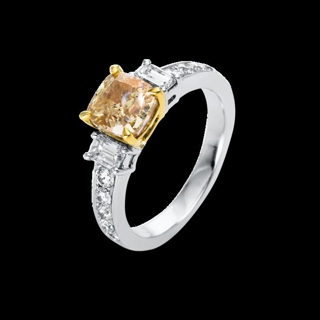 Ring Brogle Selection Exceptional aus 750 Weißgold und 750 Gelbgold mit 13 Diamanten (2,91 Karat) bei Brogle