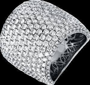 Ring Brogle Selection Exceptional aus 750 Weißgold mit 292 Brillanten (6,21 Karat)